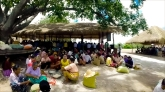 Villagers come to help prepare Phom Phomgyi's birthday.