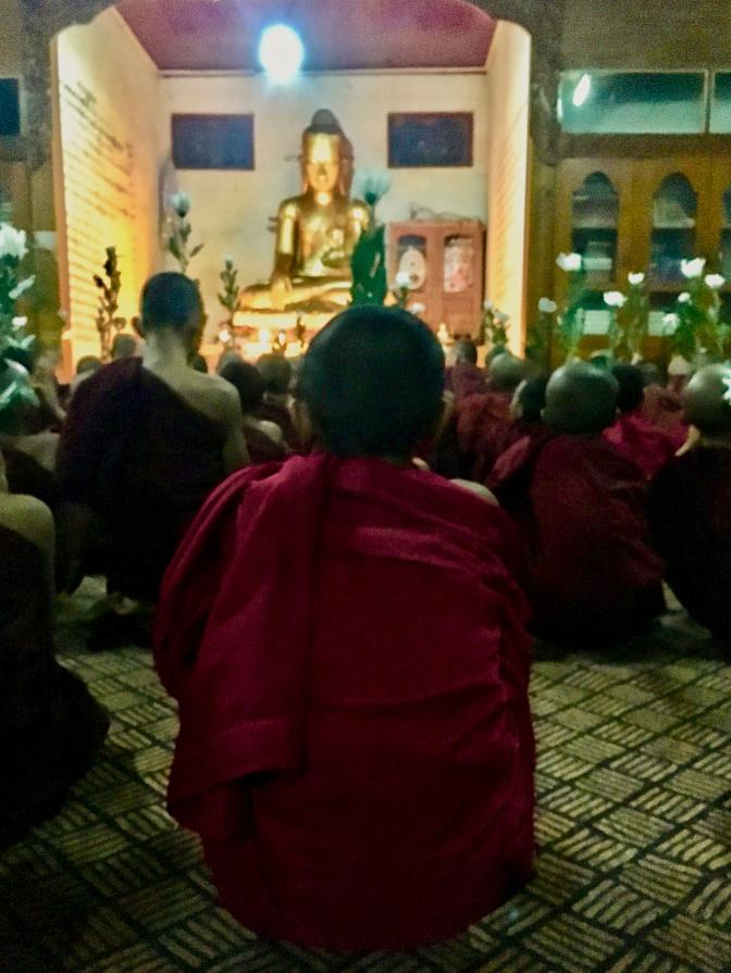 Novices praying during Waso